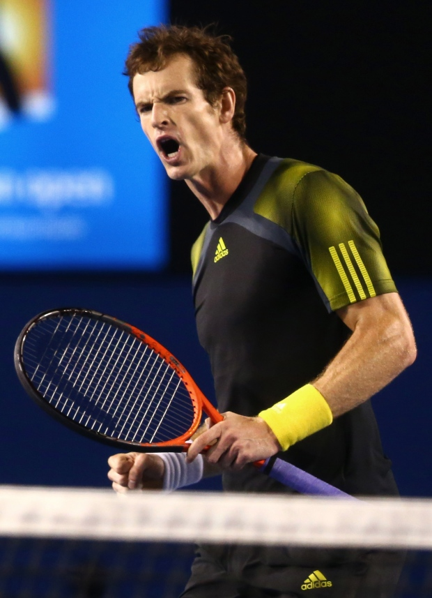 Andy Murray at Australian Open semifinal