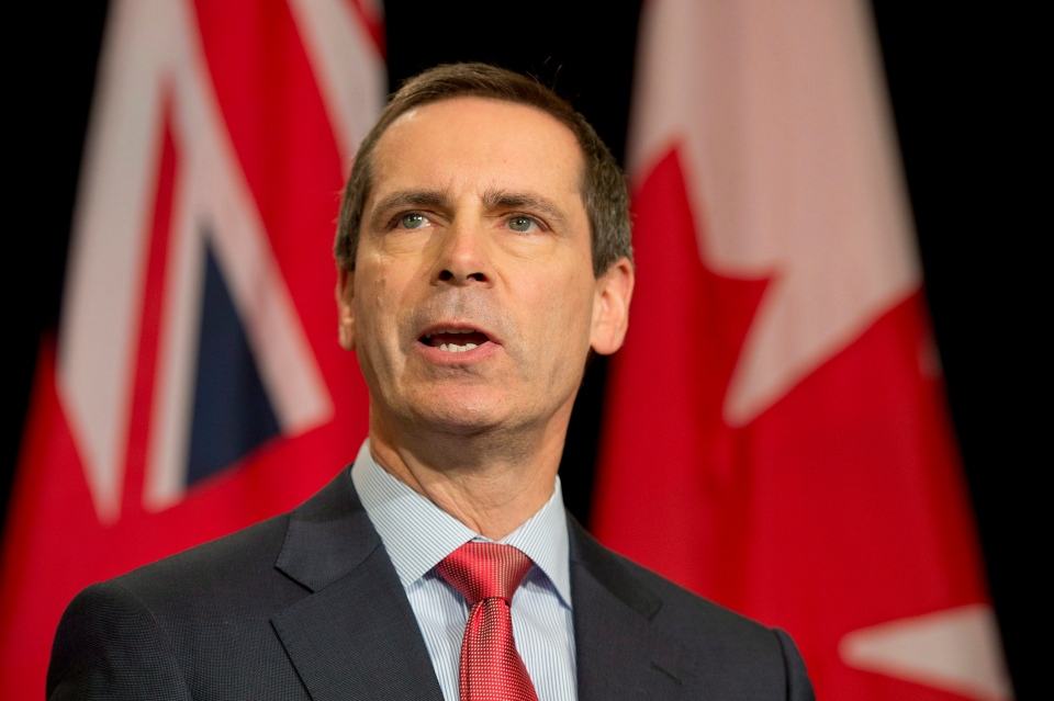 Ontario Premier Dalton McGuinty speaks speaks to reporters in Toronto on Friday, Jan. 11, 2013. (Frank Gunn / THE CANADIAN PRESS)