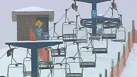 Skiers had to be rescued from a chair lift after it got stuck at Chicopee Ski Club in Kitchener, Wednesday, Dec. 29, 2010.