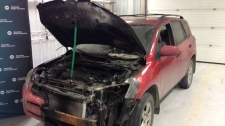 This vehicle was damaged by an extension cord fire