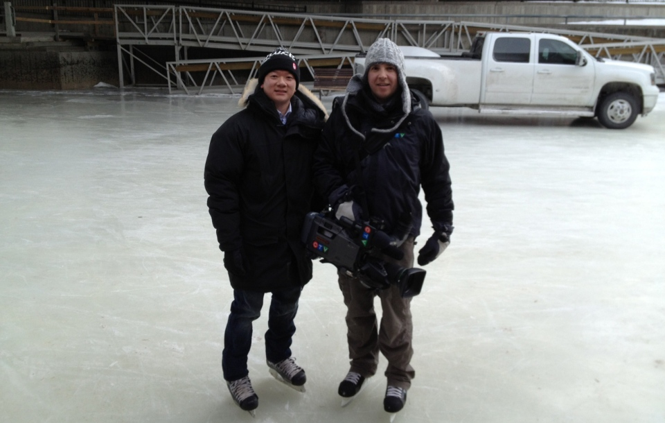 CTV Reporter John Hua and Camera Man Tyler Fleming