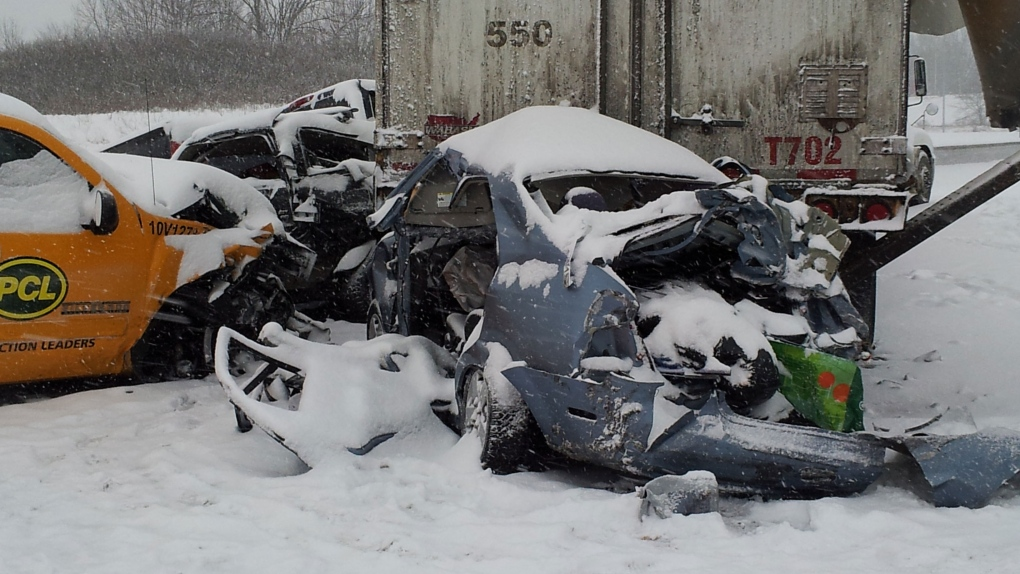 Multi-vehicle collision  closes 401