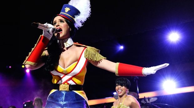 Katy Perry performs at the 2010 Z100 Jingle Ball concert at Madison Square Garden in New York on Friday, Dec. 10, 2010. (AP / Peter Kramer)