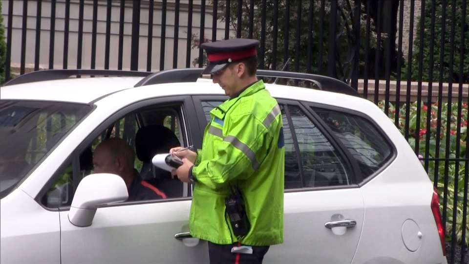 According to local resident Phil Palter, there can be up to five cops writing tickets on a Saturday afternoon at St. Pauls Square in Toronto.