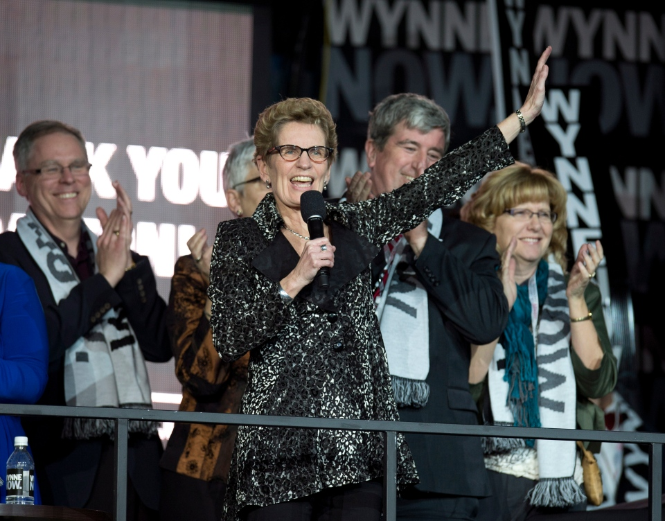 MPP Kathleen Wynne speaks to supporters at the Ontario Liberal Leadership convention in Toronto on Friday, January 25, 2013. (Frank Gunn / THE CANADIAN PRESS)