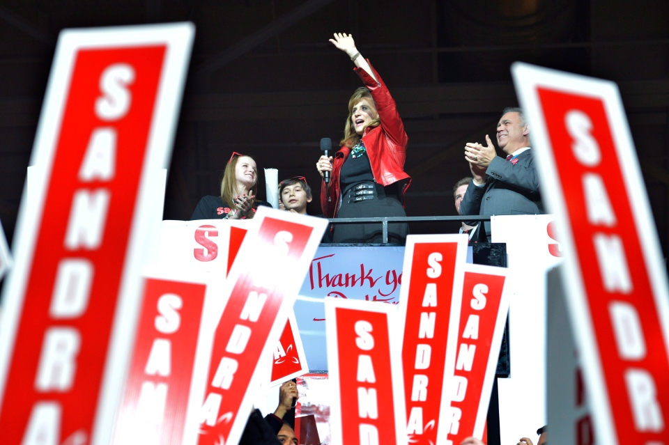 Sandra Pupatello speaks to supporters at the Ontario Liberal Leadership convention in Toronto on Friday, January 25, 2013. (Nathan Denette / THE CANADIAN PRESS)