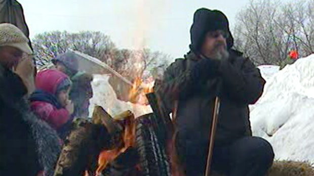 A warming fire was a venue for storytelling.