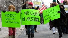 Newtown residents march in Washington