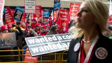 Thousands protest Ontario Liberal convention
