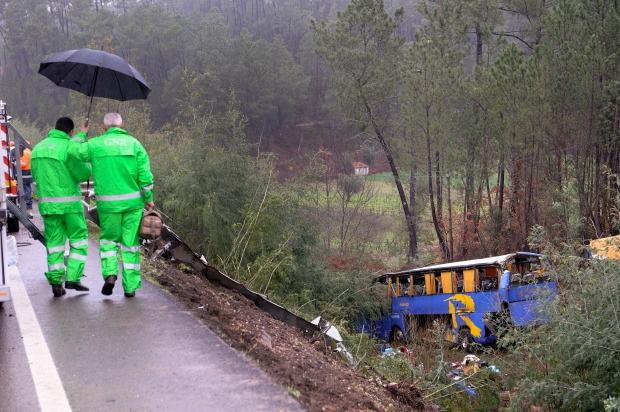 Bus crash in Portugal leaves 10 dead, 33 injured