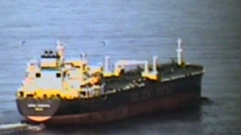 Russian ship capsizes near Japan