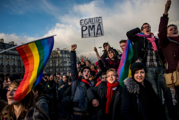 Gay marriage supporters rally in Paris