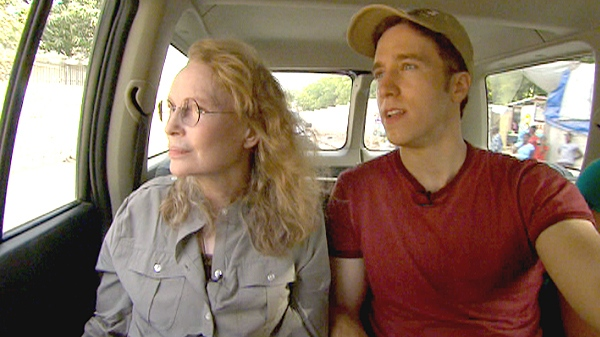 Free the Children Founder Craig Kielburger and actress and humanitarian Mia Farrow on a journey through impoverished neighbourhoods in Port-au-Prince.