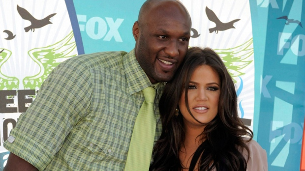 Lamar Odom and Khloe Kardashian arrive at the Teen Choice Awards on Sunday, Aug. 8, 2010 in Universal City, Calif. (AP / Chris Pizzello)