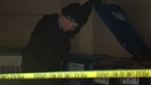 Kitchener police investigate after a woman's torso was discovered in a dumpster on Jan. 27, 2013.