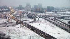 Freezing rain and snow in Toronto
