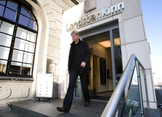 Landsbanki in Reykjavik, Iceland, Oct. 7, 2008.