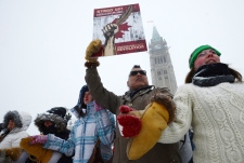 Idle No More protests on Parliament Hill