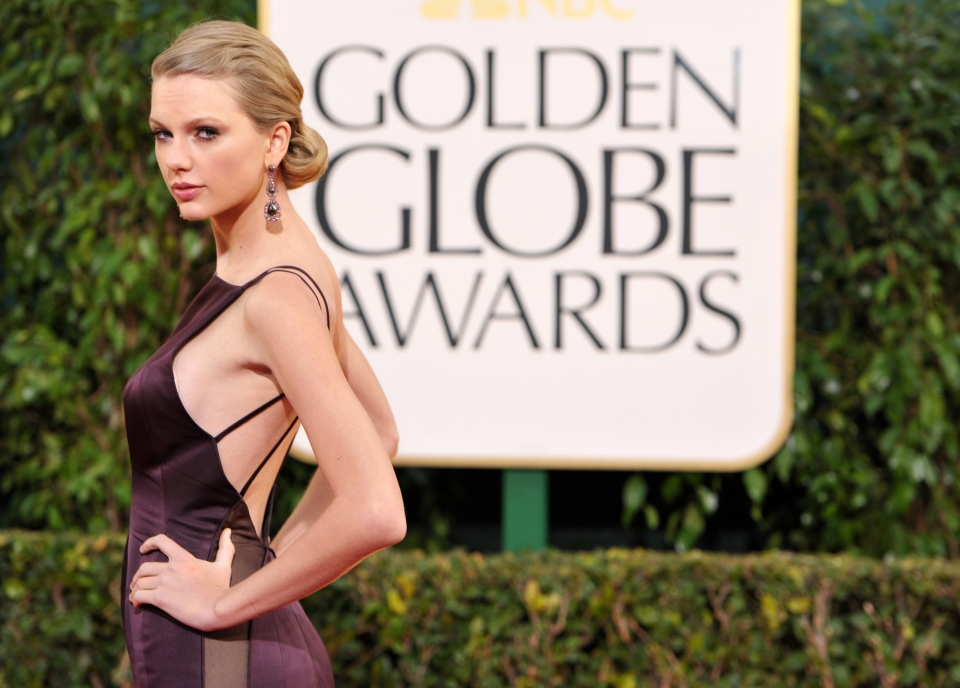 Taylor Swift is shown at the 70th Annual Golden Globe Awards in Beverly Hills, Calif., in this January 2013 file photo. (AP Photo/Invision/John Shearer)
