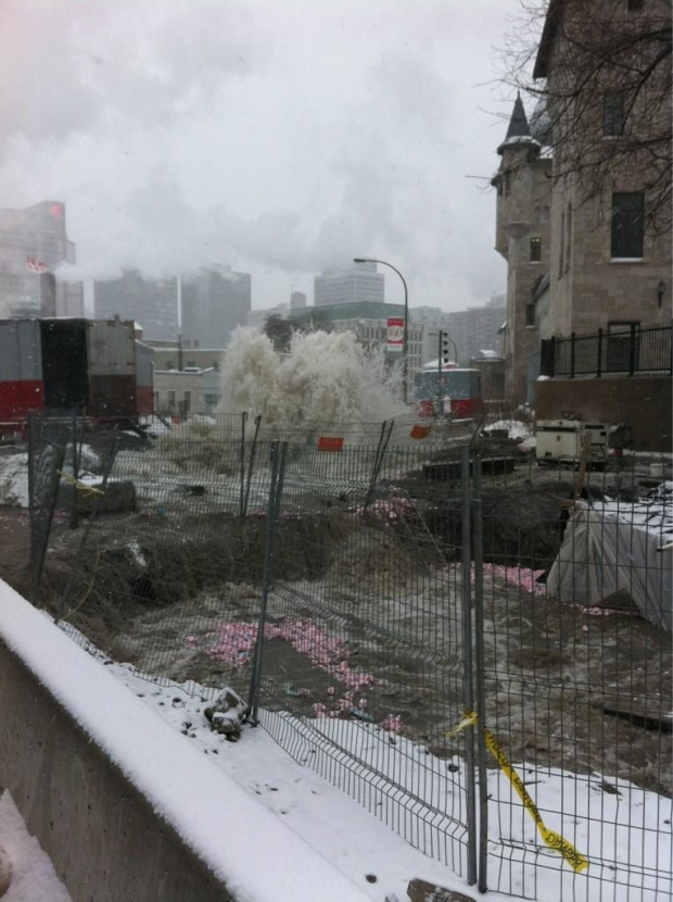 flooding in downtown montreal