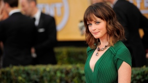 Alexis Bledel arrives at the 19th Annual Screen Actors Guild Awards at the Shrine Auditorium in Los Angeles on Sunday, Jan. 27, 2013. (AP / Chris Pizzello / Invision)