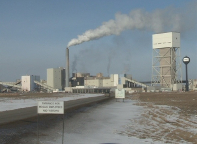 Mosaic's K2 potash mine near Esterhazy is seen in this file image.