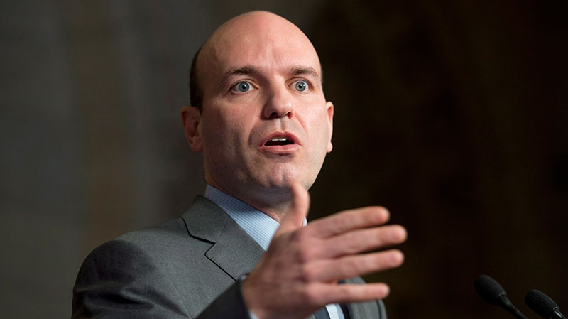 NDP Government House Leader Nathan Cullen speaks about expanding the powers of the Speaker of the House of Commons in Ottawa, Tuesday, Jan. 29, 2013. (Adrian Wyld / THE CANADIAN PRESS)