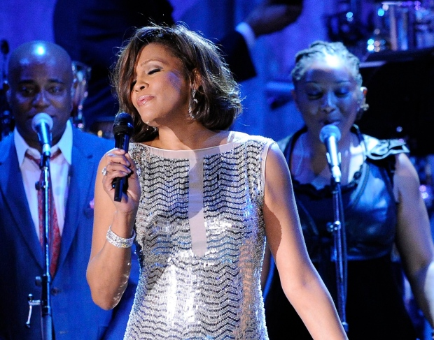 Whitney Houston performs