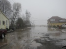 Flooding is seen after heavy rain in Port Stanley, Ont. where crews are working to deal with the water on Tuesday, Jan. 29, 2013. (Courtesy Greg Decock via Facebook)