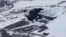 Maskimo Quarry landslide in L'Epiphanie