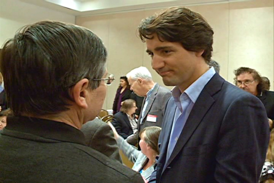 Federal Liberal leadership candidate Justin Trudeau was in Saskatoon Tuesday campaigning for support.
