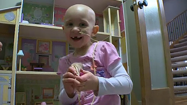 Halle Popowich is all smiles after undergoing a bone-marrow transplant that eradicated the leukemia cancer cells in her body.