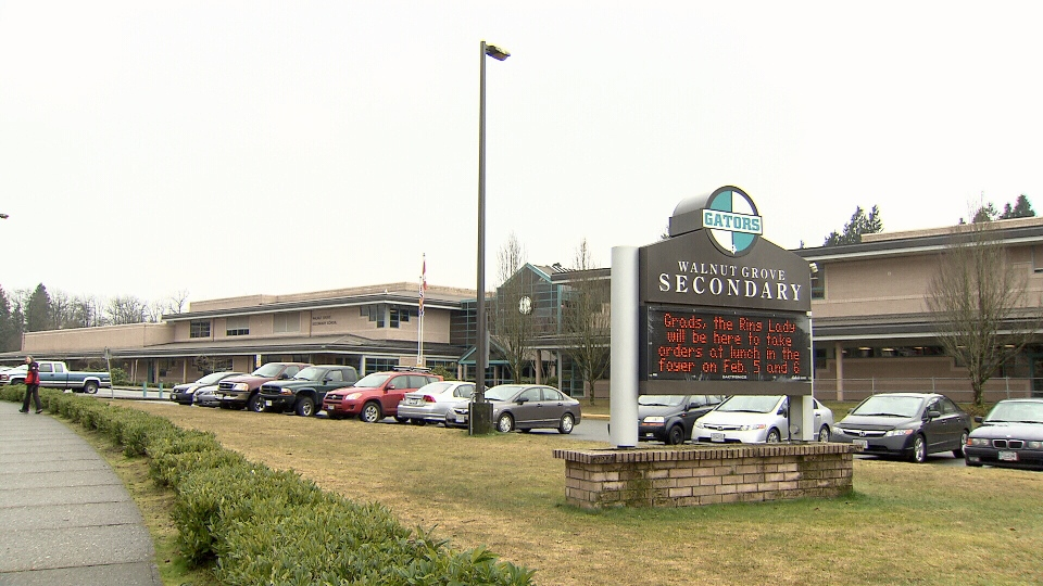 Schools like Walnut Grove Secondary in Langley could run through the summer if parents agree to move to a year-long schedule. (CTV)