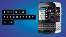 New BlackBerry model Q10