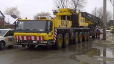 heavy crane arrives at quarry