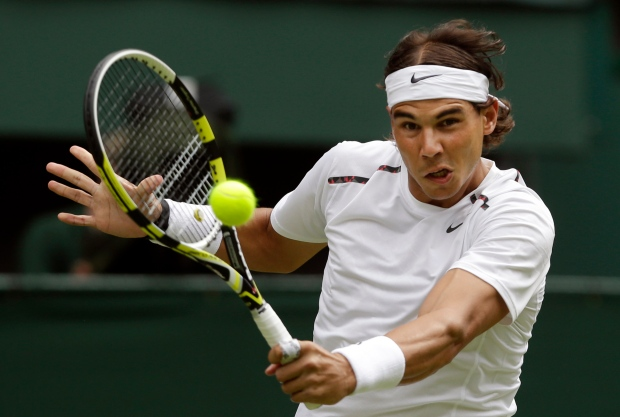 Rafael Nadal on June 26, 2012.