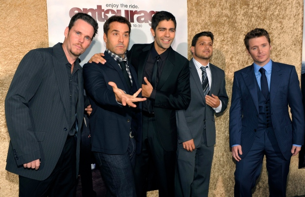 Entourage cast members in L.A. on June 16, 2010.