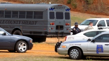 Police SWAT teams standoff in Alabama