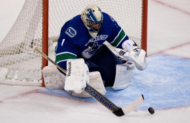 Vancouver Canucks' goalie Roberto Luongo