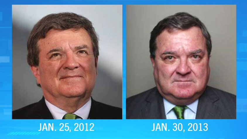 A before and after image is shown of Finance Minister Jim Flaherty, who revealed he is battling a rare skin disease that is altering his appearance.