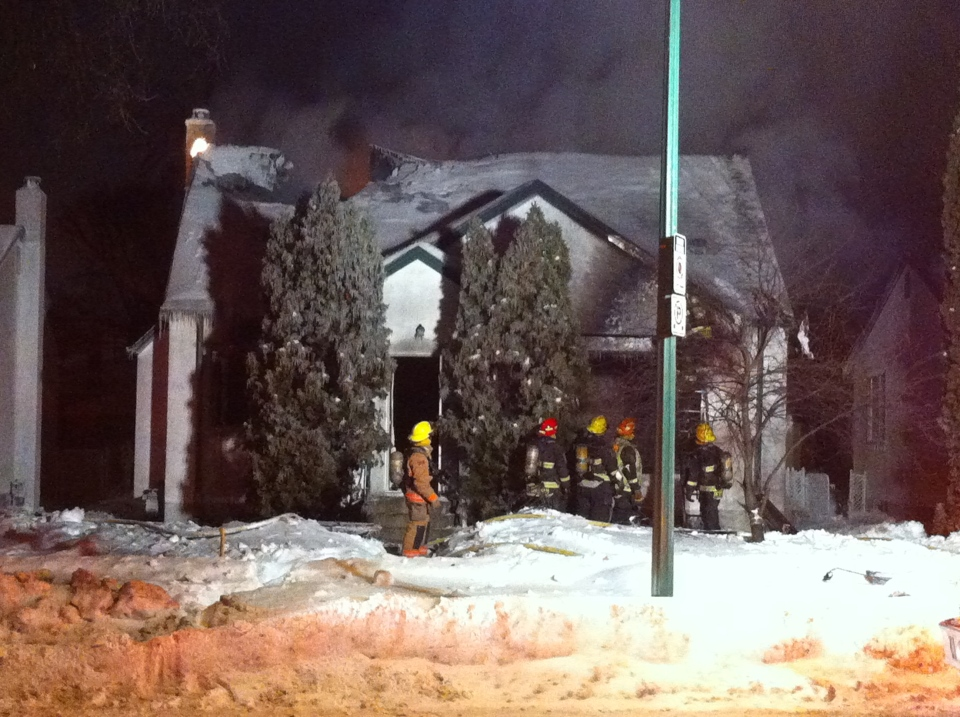 An early-morning fire destroyed a home on Fleet Avenue.