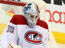 Montreal Canadiens goaltender Peter Budaj