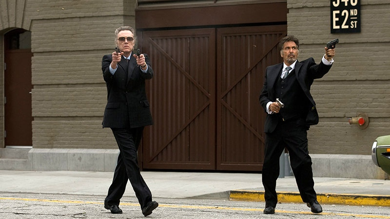 Christopher Walken as Doc, left, and Al Pacino as Val in a scene from eOne Films Canada's 'Stand Up Guys'