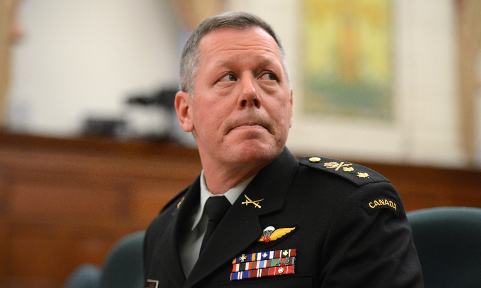 Maj.-Gen. Jonathan Vance appears as a witness at a House of Commons standing committee on Foreign Affairs and International Development on Parliament Hill in Ottawa on Thursday, Jan. 31, 2013. (Sean Kilpatrick / THE CANADIAN PRESS)