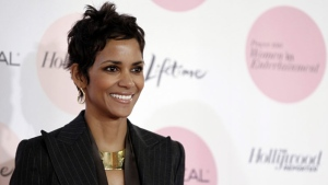 "Actress Halle Berry arrives at The Hollywood Reporter's ""Power 100: Women in Entertainment Breakfast"" in Beverly Hills, Calif. on Tuesday, Dec. 7, 2010. (AP Photo/Matt Sayles)"