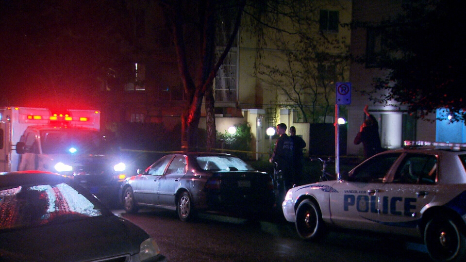 Vancouver police are investigating multiple stabbings at an apartment in the 1200-block of Barclay Street. Jan. 31, 2013. (CTV)