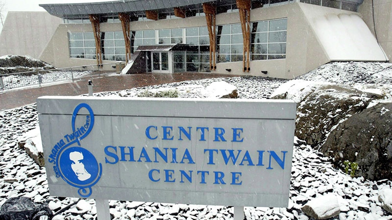 The Shania Twain centre, which was officially opened during a ceremony in the town of Timmins on Tuesday, Nov. 2, 2004. (J.P. Moczulski / The Canadian Press)