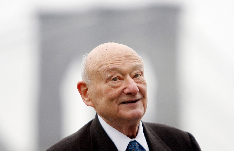 In this March 23, 2010 file photo, former New York Mayor Ed Koch speaks during a publicity event in New York. (AP Photo/Seth Wenig, File)