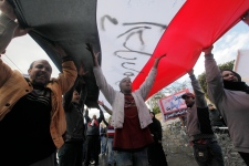 Protesters in Cairo on Feb. 1, 2013.