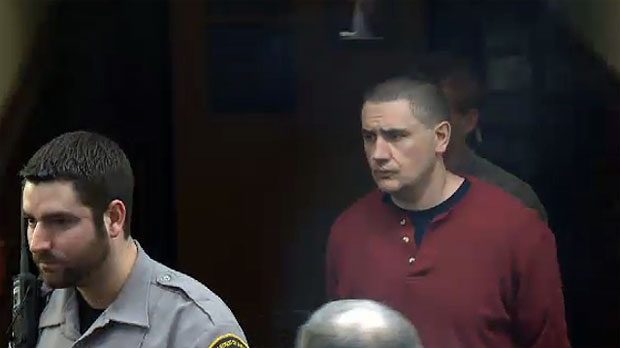 Thomas Ted Barrett arrives at Halifax provincial court on Friday, February 1, 2013.